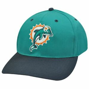 NFL MIAMI DOLPHINS SNAP BACK OLD SCHOOL HAT CAP TWILL
