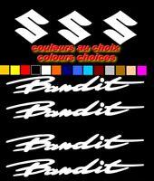 BANDIT SUZUKI X7 adhesifs Vinyl Decals Stickers sticker MOTO AUTO Bike Bicycle