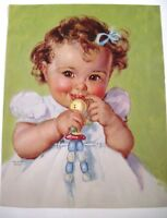 Art Print of Vintage Art Daddy/'s Sweetheart by Charlotte Becker