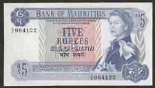 1967 MAURITIUS 5 RUPEE NOTE UNC