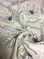SUPER LUXURIOUS LILAC EMBROIDERY DESIGNER CURTAIN UPHOLSTERY FABRIC 2.8 METRES.