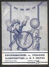 Oct 28 1950 Program-1st ever Knicks App Nat Clifton/Black Player in NBA Game!