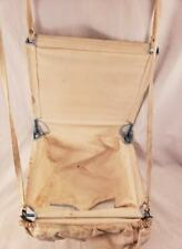 Vintage Antique Baby Toddler Bouncer Swing Seat Metal with Canvas & Spring