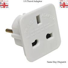 UK To EU European Europe White 2 Pin Holiday Travelling Popular Adapter Plug UK