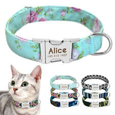 Nylon Cat Collar Personalized Small Dogs Chihuahua Kitten ID Name Tags Collars