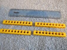 Lego Technic 4 x YELLOW Beams - 1 x 10 pin long with 9 x Axle Hole Brick