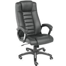 Chaise de bureau fauteuil siège hauteur réglable ergonomique rembourrage noir