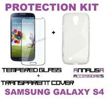 COVER + PELLICOLA VETRO TEMPERATO SAMSUNG GALAXY S4 I9500 CASE + TEMPERED GLASS