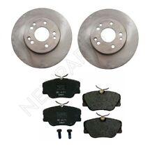 2 Front Rotor Rotors /& Brake Pad Kit 190E 16 Valve 260E 300CE 300D 300E