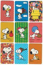 "Single Playing Card Miniature /""Peanuts Snoopy/"" Hallmark 1608 I"