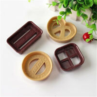4Pcs Square Round Cookie Biscuit Cutter Set Bread Fondant Cake Mold Baking  KI