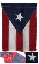 "12x18 Embroidered Puerto Rico 220D Nylon Sleeved Garden Flag 12""x18"""