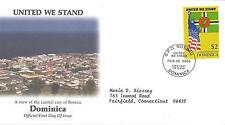 FDC  2001 SEPTEMBER 11th COALITION OF FORCES COMMEMORATIVE COVERS- DOMINICA