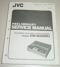 JVC Preliminary Service Manual #8078 for Full-Editing Color VCR CR-8300U