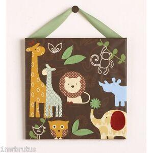Cocalo Noah & Friends Wall Art Canvas Jungle Safari Boy's Nursery Ark Animals