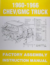Chevrolet Pickup Truck Assembly Manual 1966 1965 1964 1963 1962 1961 1960 Chevy