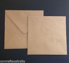 50 Envelopes Kraft Craft Recycled Brown150mm SQUARE Quality Recycled Envelope