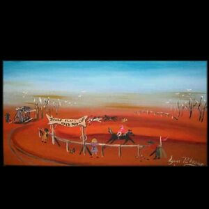 OUTBACK AUSTRALIA ABSTRACT ART ORIGINAL COM  Lynne  Pickering 27210 home decor