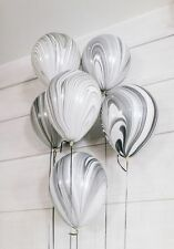 Party Supplies Birthday Baby Marble Agate Black & White 28 cm  Balloons Pk 10