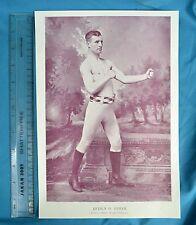 Original 1894 Antique print Portrait Gallery of pugilistes Arthur O. Upham Boxer