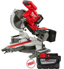 Milwaukee 2734-21HDP M18 FUEL Dual Bevel Sliding Compound Miter Saw Kit with Fre