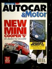 AUTOCAR MAGAZINE 08-MAY-91 - Mini Cooper S, Jaguar XJR-15, Mercedes 300E-24 W124