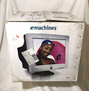 """2006 NOS eMachines EView 17"""" CRT 17F3 Computer Gaming Monitor"""