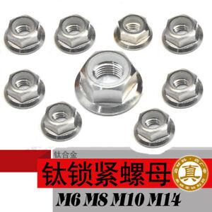 10pcs M5 M6 M8 M10 M14 Titanium Ti Self-locking Nuts Caulking Nut