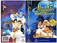 DISNEY -  ALADDIN AND THE KING OF THIEVES  *RARE VHS TAPE*