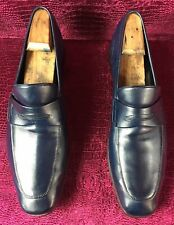 $760.00  Mens Salvatore Ferragamo Blue Leather Loafers Sz 11.5 US Made In ITALY