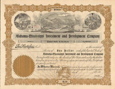 Alabama Mississippi Investment and Development > 1900s Mobile stock certificate