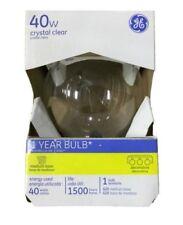 GE 12980 Decorative Globe Clear Light Bulb, 40 Watts, 120 Volt 36/PK