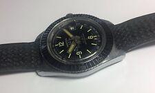 Vintage 1970's Watco EBAUCHE Cal. 8800 Mechanical Diver's Watch w/Tropic Band