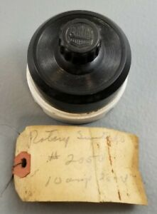 Vintage Rotary Round Light Switch ON/OFF Porcelain  Perkins #2050 10 amp 25 volt