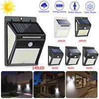 50/100LED Solar Power Light PIR Motion Sensor Security Outdoor Garden Wall Lamp