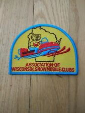 Drawer #9 Vintage Association Of Wisconsin Snowmobile Clubs Patch New Condition