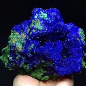 670g Natural Glittering Azurite & Malachite Geode Crystal Mineral Specimen/China