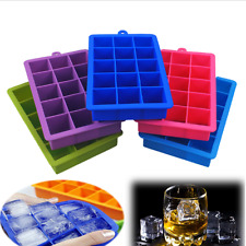 New Large Silicone Food Grade 15 Cavity Ice Cube Tray Ice Square Mold Cubes