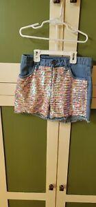 Justice Shorts Flip Sequin Girls Size 16