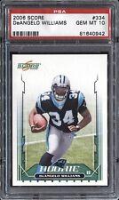 DeAngleo Williams 2006 Score Football # 334 Rookie RC PSA 10