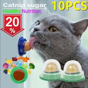 10PCS Cat Treats Kitty Chups Healthy Cat Snacks Catnip Sugar Candy Snack Balls