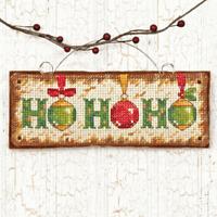 Dimensions Counted Cross Stitch: Ornament: Ho Ho Ho Christmas