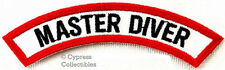 New listing MASTER DIVER CHEVRON - SCUBA DIVING iron-on DIVE CERTIFICATION PATCH embroidered