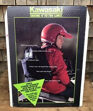 Vintage Kawasaki Motorcycle Bike Stand Up Sign Store Display Eddie Bauer