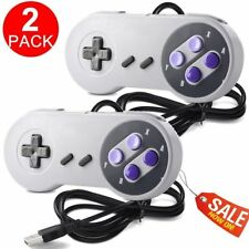 2Pcs SNES USB Controller Gamepad Joystick for Windows PC Mac Linux Raspberry Pi