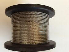 Stainless Steel Marine Cable G316 Balustrade Rope Wire 7 x 7 constr 3.2mm x 100m