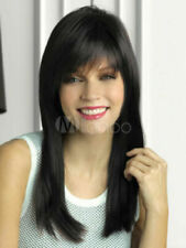 100% Human Hair Natural Long Straight Black Fashion Women's Wig
