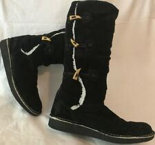 O'neill Black Mid Calf Suede Lovely Boots Size 39 (667ww)