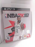 NBA 2K18 (Sony PlayStation 3, 2017) Game and Case Tested Fast Shipping