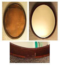 Original Edwardian Oval Mirror, Vintage